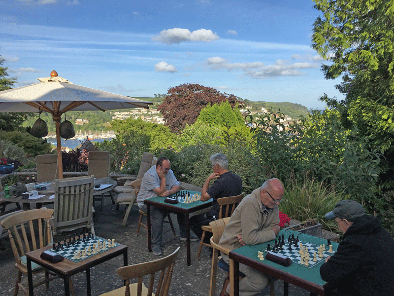 Chess over the Dart estuary