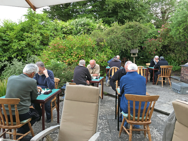 Chess on the terrace